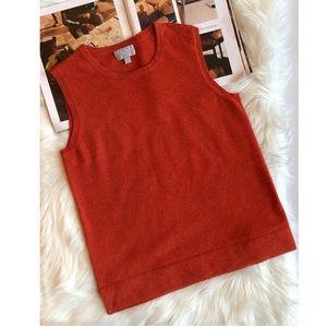 Pure Collection Dark Orange Cashmere Sweater 8/10